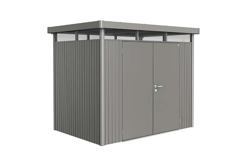 Biohort Zahradní domek HIGHLINE® H2,šedý křemen metalíza