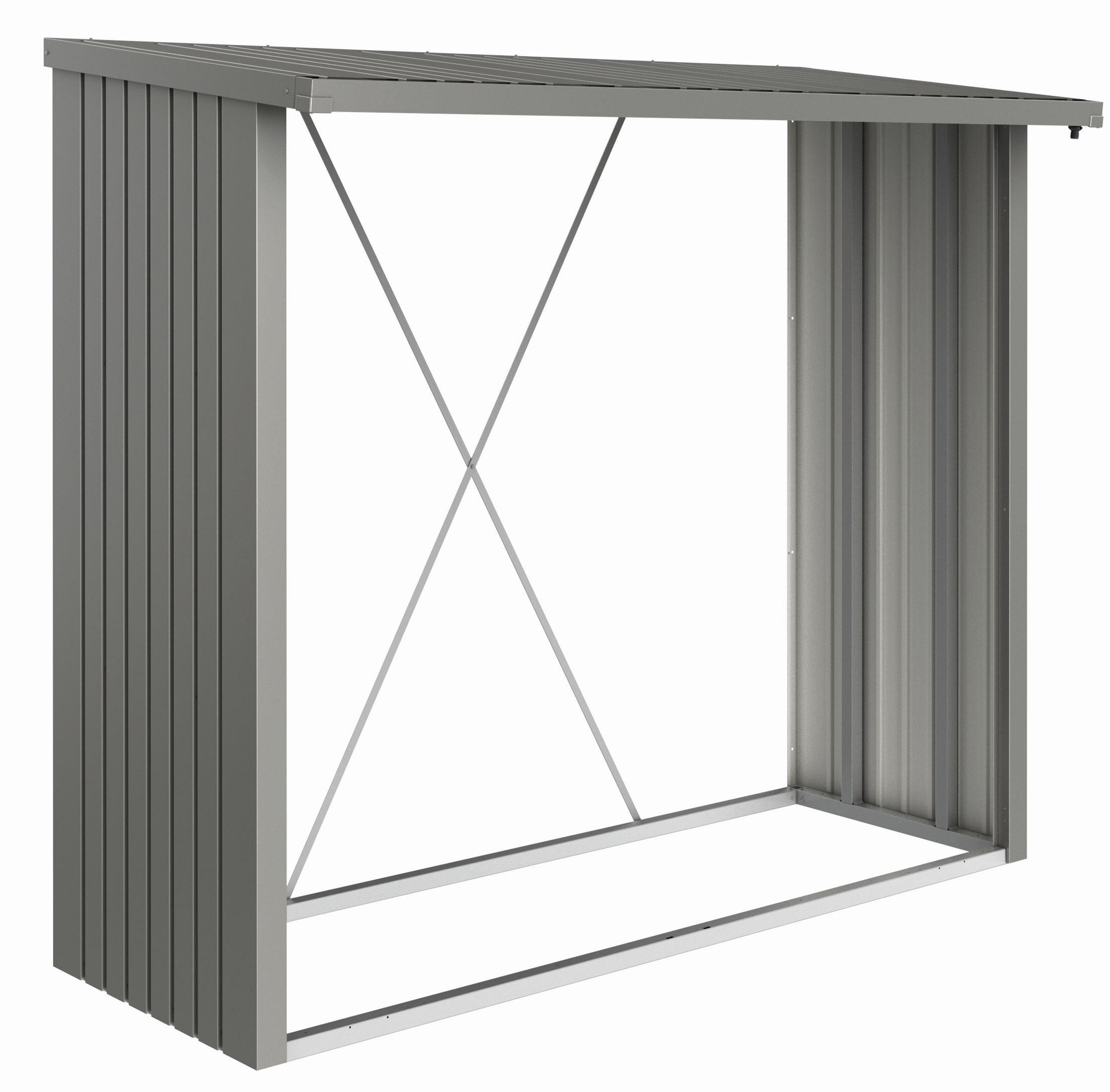 Biohort Přístavek  dřevník WoodStock® 230, šedý křemen metalíza