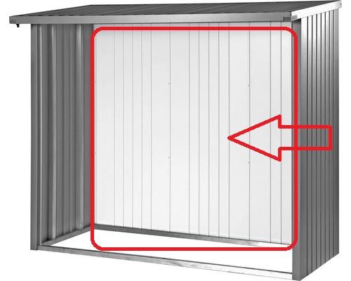 Biohort Zadní stěna WoodStock® 150, šedý křemen metalíza
