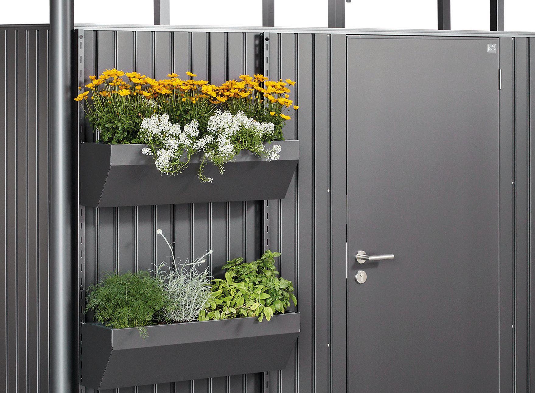 Biohort FloraBoard květinové truhlíky tmavě šedá metalíza (balení 2ks)