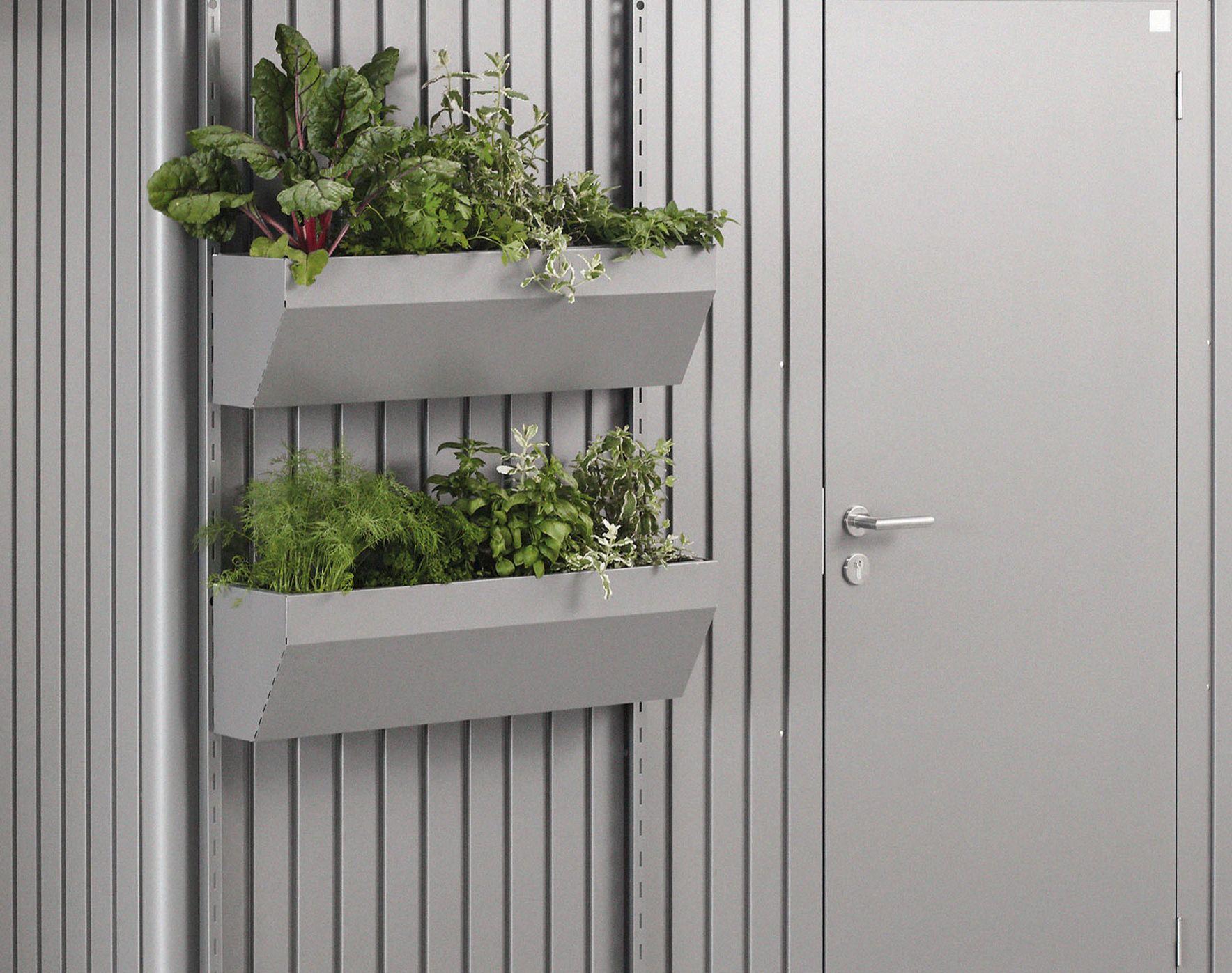 Biohort FloraBoard květinové truhlíky šedý křemen metalíza (balení 2ks)