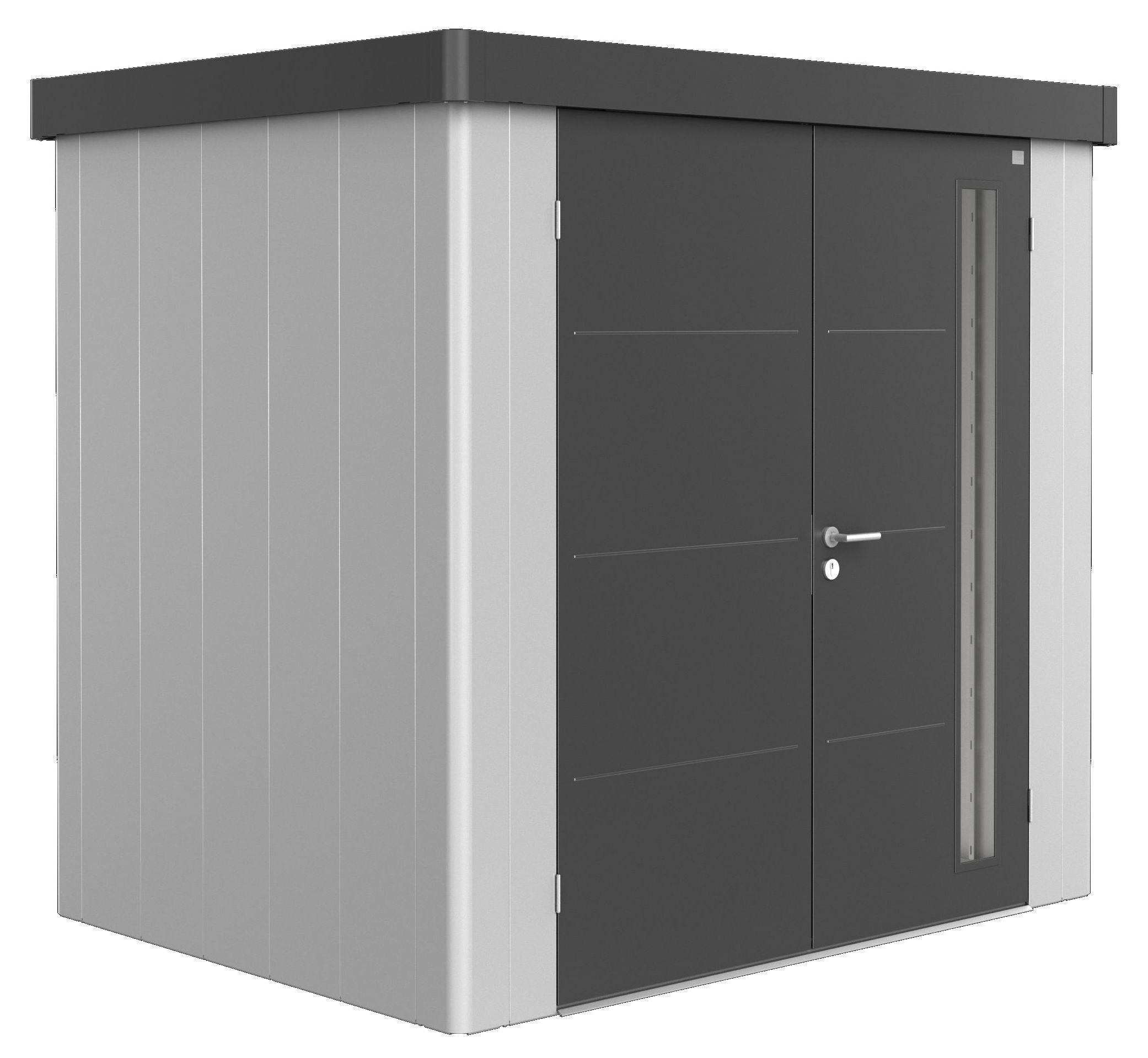 Biohort Zahradní domek NEO 1B, varianta 1.3 stříbrná metalíza